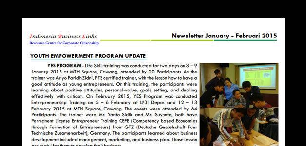 E-Newsletter January - February 2015