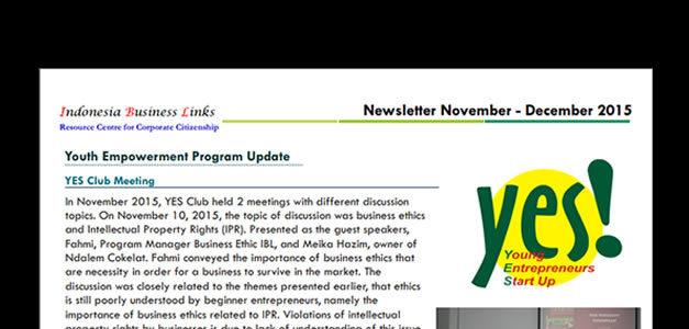 E-Newsletter November - December 2015